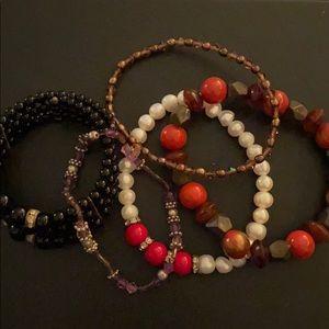 Bundle of Beaded Bracelets